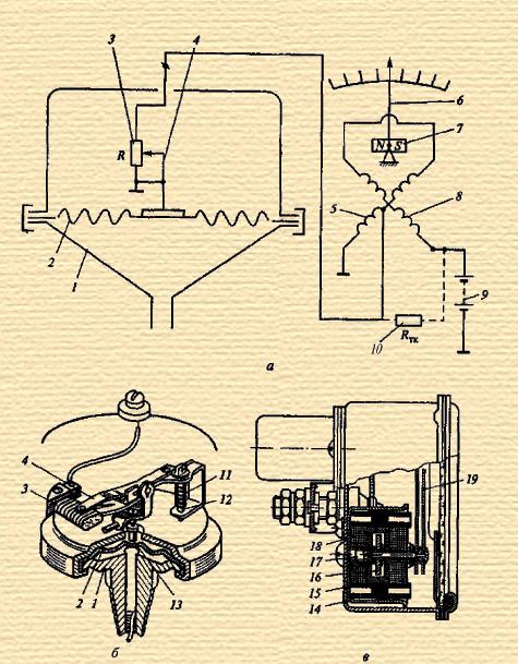 Электрическая схема (а) и